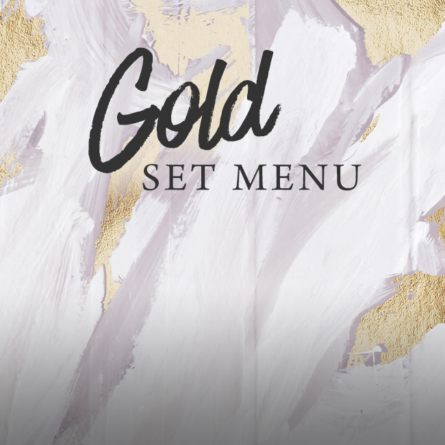 Gold set menu at The Anchor Inn