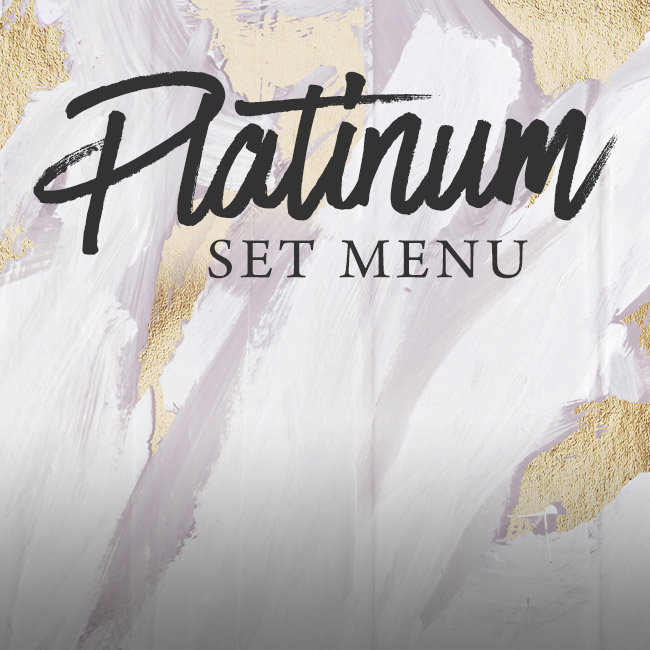Platinum set menu at The Anchor Inn