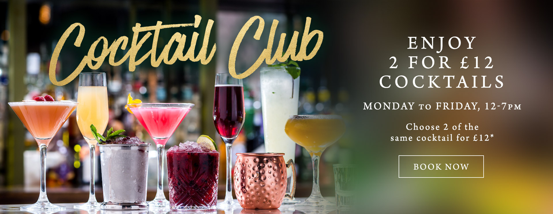 2 for £12 cocktails at The Anchor Inn